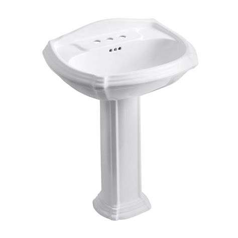 bathroom sink combo kohler archer vitreous china pedestal combo bathroom sink