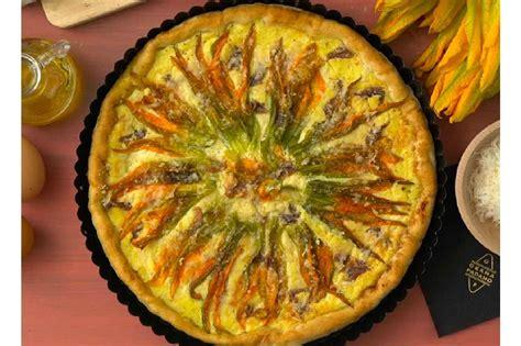 torta con fiori di zucca torta salata estiva con fiori di zucca e grana padano