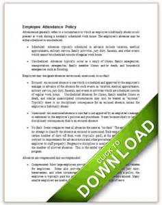 Absenteeism Policy Template by Free Editable Employee Handbook