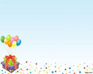 powerpoint template birthday air balloons powerpoint template