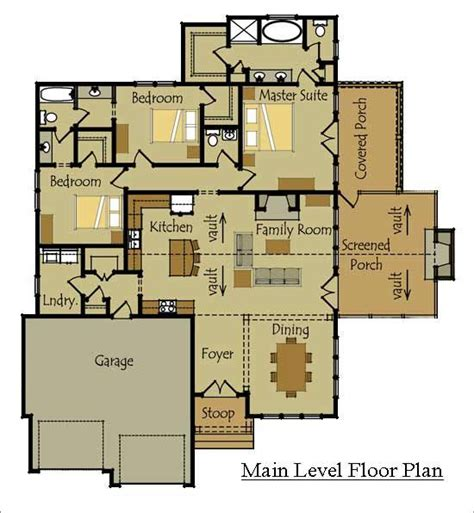 one story cottage style floor plan for the home pinterest