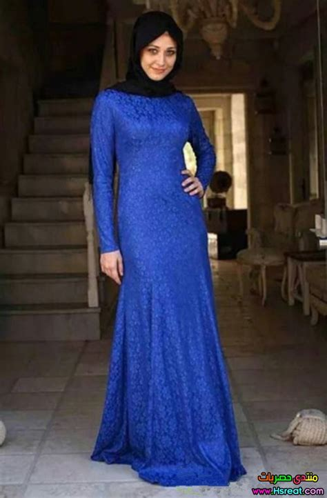 Dress Muslim Gamis Maxi Dress Wanita Barnie Dress 1 بالصور فساتين محجبات باللون الازرق جميلة حديثة عصرية جدا