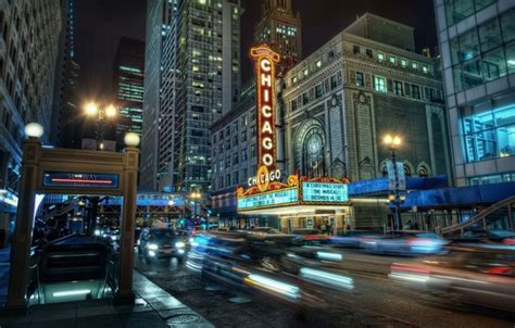 downtown chicago lights wallpaper city chicago downtown subway lights