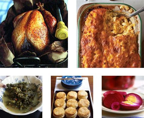 menu a classic southern thanksgiving