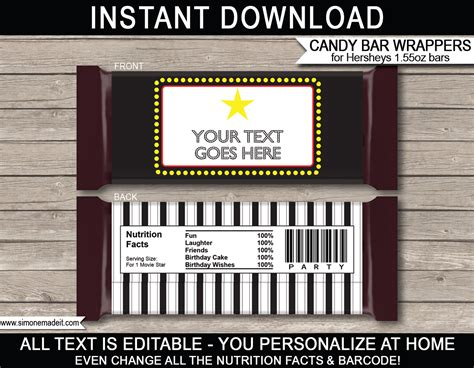 Free Hershey Bar Wrapper Template