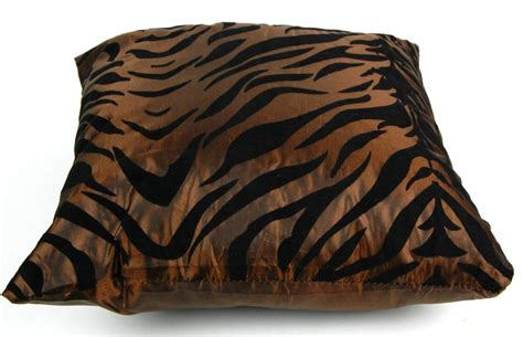 animal print couch pillows silk blend brown zebra pillow square throw modern animal