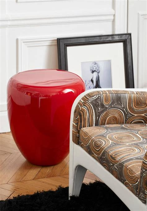 famous furniture designers 21st century dot side table or stool iconic red by reda amalou