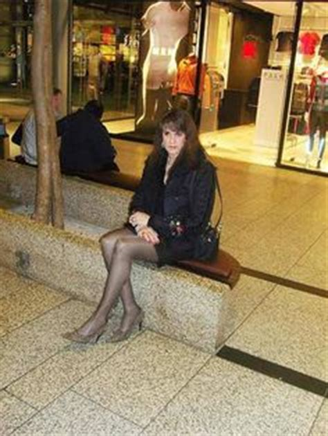 crossdressers out shopping at the mall casual look at home claudia winterfeld pinterest
