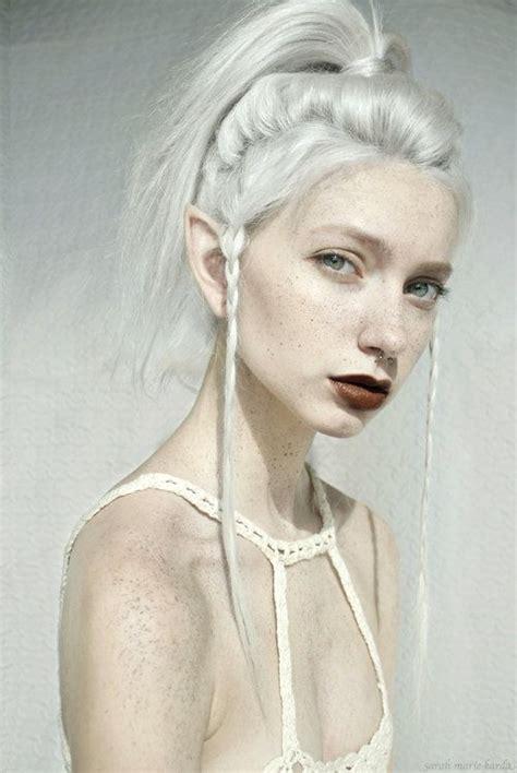Sarah Marie Karda Elf   simple gorgeous white on white on white model sarah