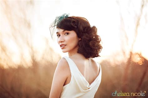Vintage Wedding Hair Las Vegas by Concept Shoot Wedding Dress On Bridal