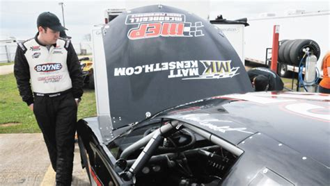 Ross Background Check Ross Kenseth Checks Out His Car Andrew Garner News