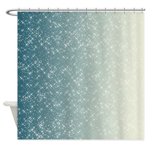teal color curtains teal and white sparkles shower curtain by be inspired by life