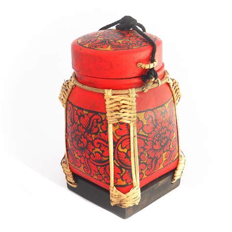 Box Rice Crafted Bamboo Rice Box From Thailand Siam Sawadee