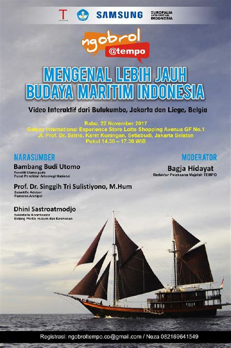 rangkaian europalia  ngobrol tentang budaya maritim