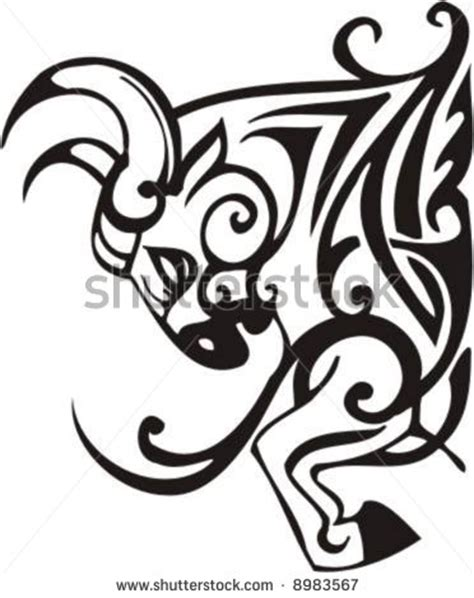 monochrome drawing bull tribal patterns on stock vector tribal bull vector clip clipart panda free