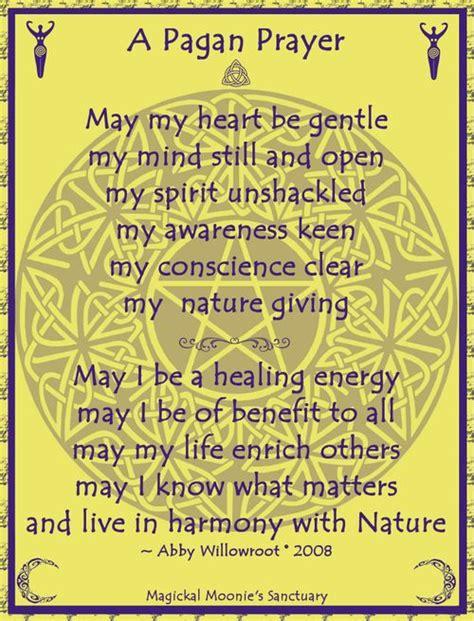wiccan prayer pagan prayer prayers chants and praise