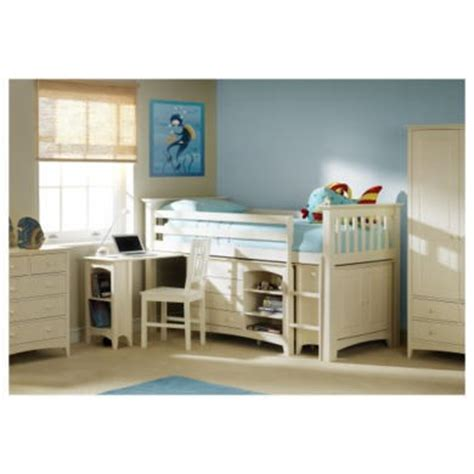 Cameo Bunk Bed Julian Bowen Cameo Right Mid Sleeper Bunk Bed White Storage Desk Ebay