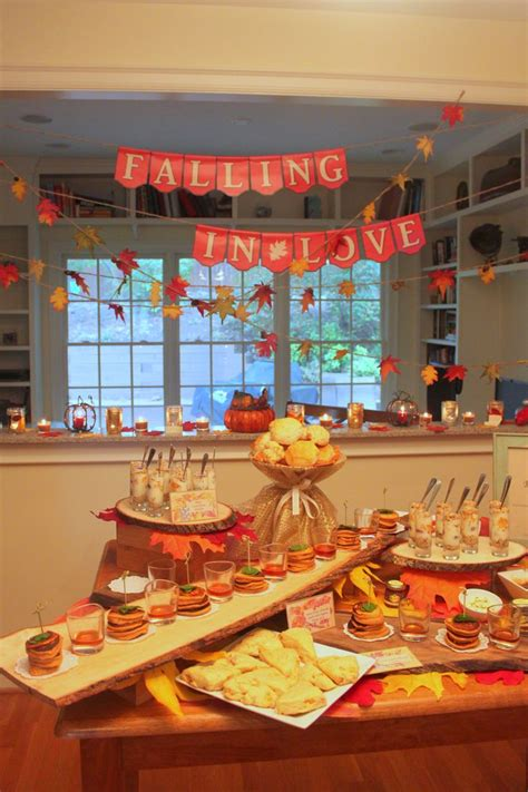 fall themed bridal shower decorations fall bridal shower autumn ideas
