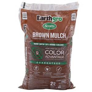 price of mulch at home depot scotts earthgro 2 cu ft brown mulch 647185 the home depot