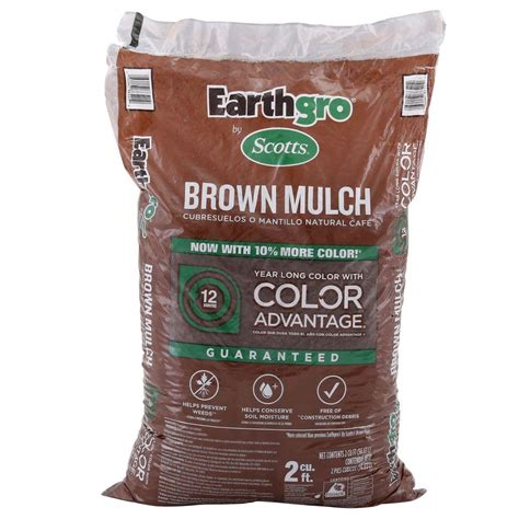 scotts earthgro 2 cu ft mulch brown black 2 00