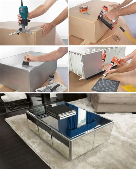 Diy Mirror Coffee Table Coffee Mirror Tiles And