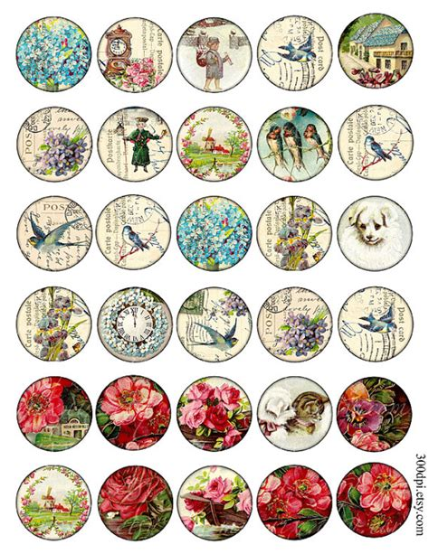 printable round stickers sheet 1 5 inch circle images round vintage printable download by
