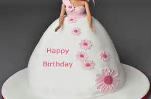 happy birthday barbie cake for girls with name