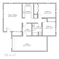 1 Bedroom 1 Bath Cottage Sample Floor Plans Meadowlark Continuing Care
