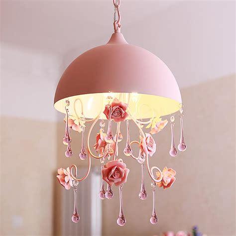 cute doll pendant 3 light kids bedroom ceiling lights cute pastoral pink rose girl s room pendant light creative