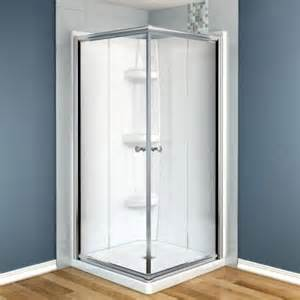 maax centric 32 in x 32 in x 73 in corner square shower