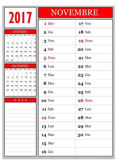 Calendario Novembre Calendario Calendario Mensile Novembre 2017