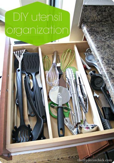 diy kitchen utensil drawer organizer 1000 images about kitchen organized drawers on