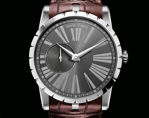Roger Dubuis 2953 Silver White Black Leather Automatic exciting excalibur roger dubuis excalibur 42