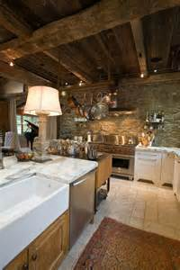 Stone Kitchens Design by 43 Kitchen Design Ideas With Stone Walls Decoholic