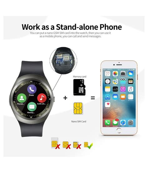 Y1 Smartwatch Support Nano Sim And Tf Card hbns y1 bluetooth smartwatch with sim tf card support