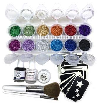 glitter body tattoo kit ybody pro all in one kit 100 adhesive stencils