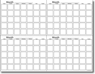 4 month calendar template blank printable 3 month calendar calendar template 2018