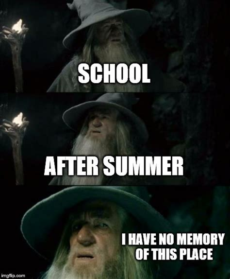 Summer School Meme - confused gandalf meme imgflip
