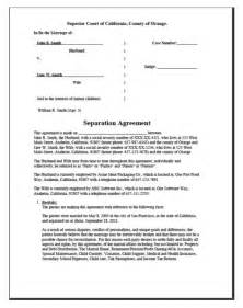 separation papers template separation papers free printable documents