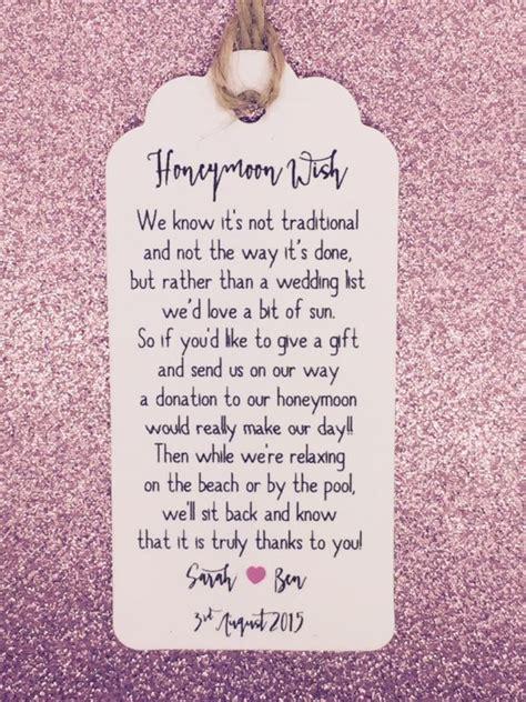 Wedding Registry Money by Wedding Gift Money Honeymoon Wording Gift Ftempo