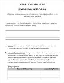 Template For A Memorandum Of Understanding by Memorandum Of Understanding Template 4 Free Word Pdf