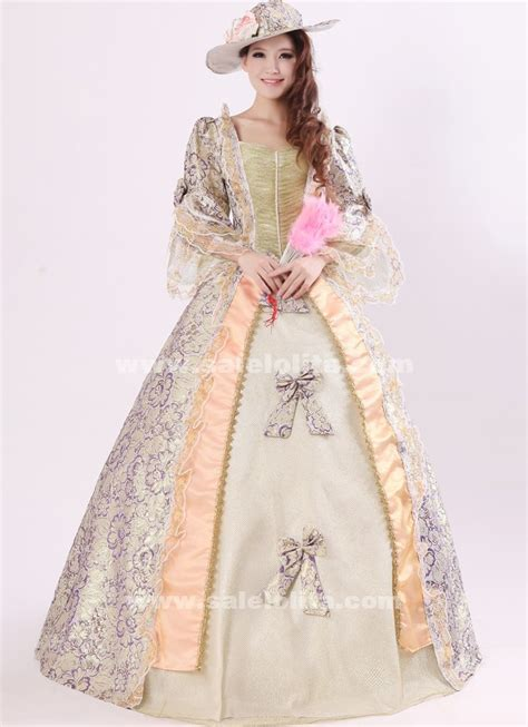 noble purple print royal palace marie antoinette dress