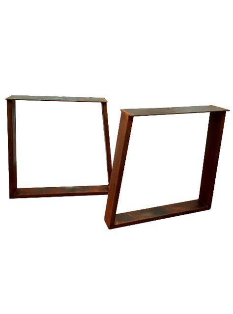 gambe per scrivania coppia di gambe in ferro ruggine per tavolo da pranzo