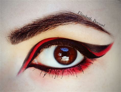 eyeliner tutorial for halloween red black halloween make up tutorial january girl