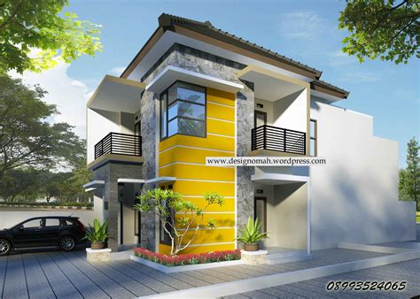 contoh desain rumah modern minimalis  lantai terbaru yg  kreatif arsitektur indonesia