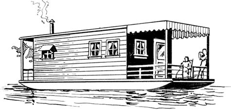 cartoon images of houseboat houseboat clipart