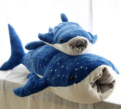shark pillow that eats you 1pc 50cm blue whale shark sea animal cute soft plush doll