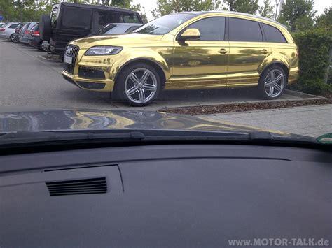 Auto Folie by Q7 Gold Reflektierende Auto Folie Bmw 3er E90 E91