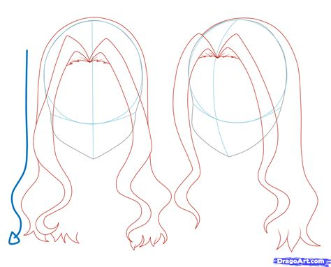 how to draw easy anime hair girl anime hair drawing visuals pinterest anime hair