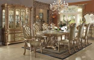Traditional Dining Room Furniture by Vendome Gold Formal Dining Table Set